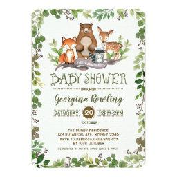 Green Woodland Baby Shower  Forest