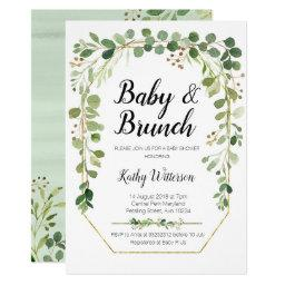greenery baby brunch shower