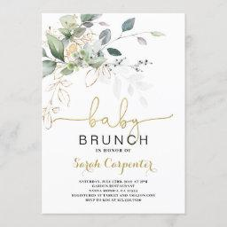 Greenery Baby Shower Brunch Invitation