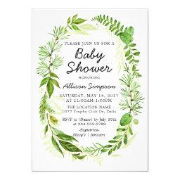 Greenery Modern  Invitation