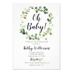 Greenery Oh Baby Shower