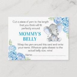 Guess Mommy's Belly Game Invitations Elephant Baby Shower
