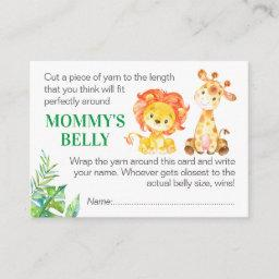 Guess Mommy's Belly Game Invitations Safari Baby Shower