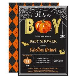 Halloween Baby Boy Shower . Black Gold