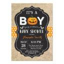 Halloween Baby Boy Shower Invitation Invitations Burlap