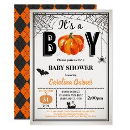 Halloween Baby Boy Shower . It's A Boy