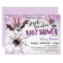 Halloween Baby Shower, Bats