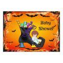 Halloween Baby Shower Boy On Candy Witch Boot Invitations