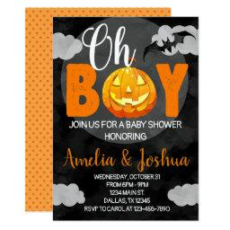 Halloween Baby Shower Invitation Invite