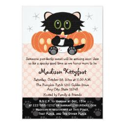 Halloween Black Cat Pink Diaper Pin Baby Shower