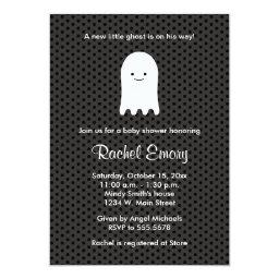 Halloween Ghost Baby Shower Polka Dot