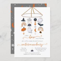 Halloween Ghost Mobile Baby Shower Invitation