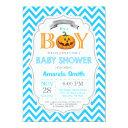 Halloween Pumpkin Baby Shower Invitations Boy