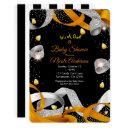 Halloween Ribbon & Candy Corn Baby Shower Invitation