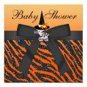 Halloween Zebra & Animal Print Baby Shower Invitations