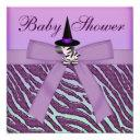 Halloween Zebra Purple Animal Print Baby Shower
