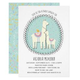 Hand drawn Llama Baby Shower
