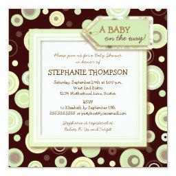 Happy Green Dots Neutral Baby Shower