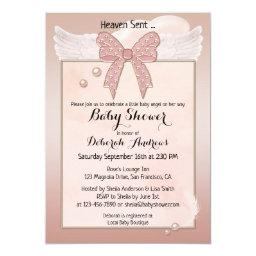 Heaven Sent Baby Shower Invitations BabyShowerInvitations4U
