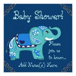 Henna Elephant (baby Shower) Invitations