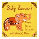 Henna Elephant (baby Shower) Invitation