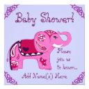 Henna Elephant (pink/purple) (baby Shower) Invitations