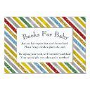 Holiday Stripes Baby Shower Book Invitations
