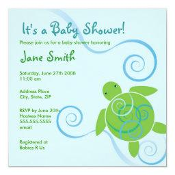 Honu Swirls Baby Shower or Birthday
