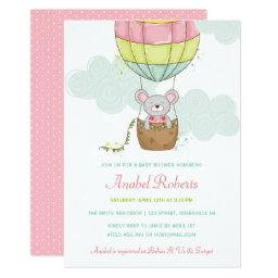Hot air balloon baby shower invitations babyshowerinvitations4u hot air balloon baby shower filmwisefo Image collections