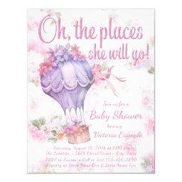 Hot Air Balloon Baby Shower Invitationss