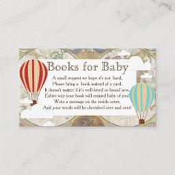 Hot Air Balloon & Clouds World Map Book Request Enclosure