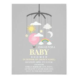 Hot Air Balloon Mobile Girl Modern Baby Shower