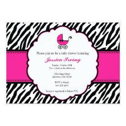 Hot Pink And Zebra Print Baby Shower