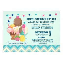 How Sweet It Is Ice Cream Baby Shower Invitation
