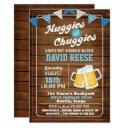 Huggies And Chuggies Dad Diaper Party Invitation
