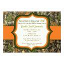 Hunting Camo Baby Boy Shower Invitations