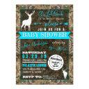 Hunting Camo Boy Baby Shower Buck Invitation