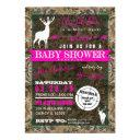 Hunting Camo Girl Baby Shower Doe Invitation