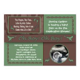Hunting & Fishing Baby Shower Invitationss