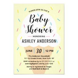 Ice Cream Baby Shower Invitation