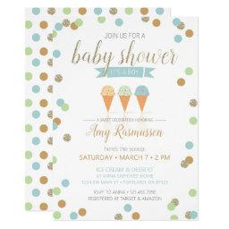 Ice Cream Baby Shower Invitation - It's A Boy