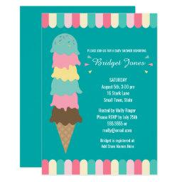 Ice Cream Baby Shower | Teal