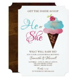 Ice Cream Gender Reveal Invite