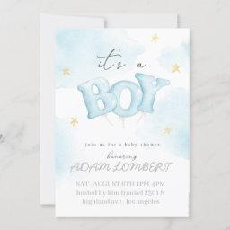 Invitation Baby Shower Boy