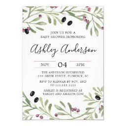Italian Tuscan Baby Shower Invitation
