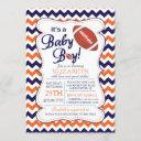 It's A Baby Boy Football Baby Shower Invitatation Invitation