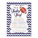 It's A Baby Boy Football Baby Shower Invitation