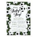 It's A Baby Boy Soccer Baby Shower Invitation