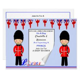 It's A Boy A Royal Prince London Theme Baby Shower Invitation