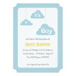 It's A Boy – Blue Baby Shower Invitation